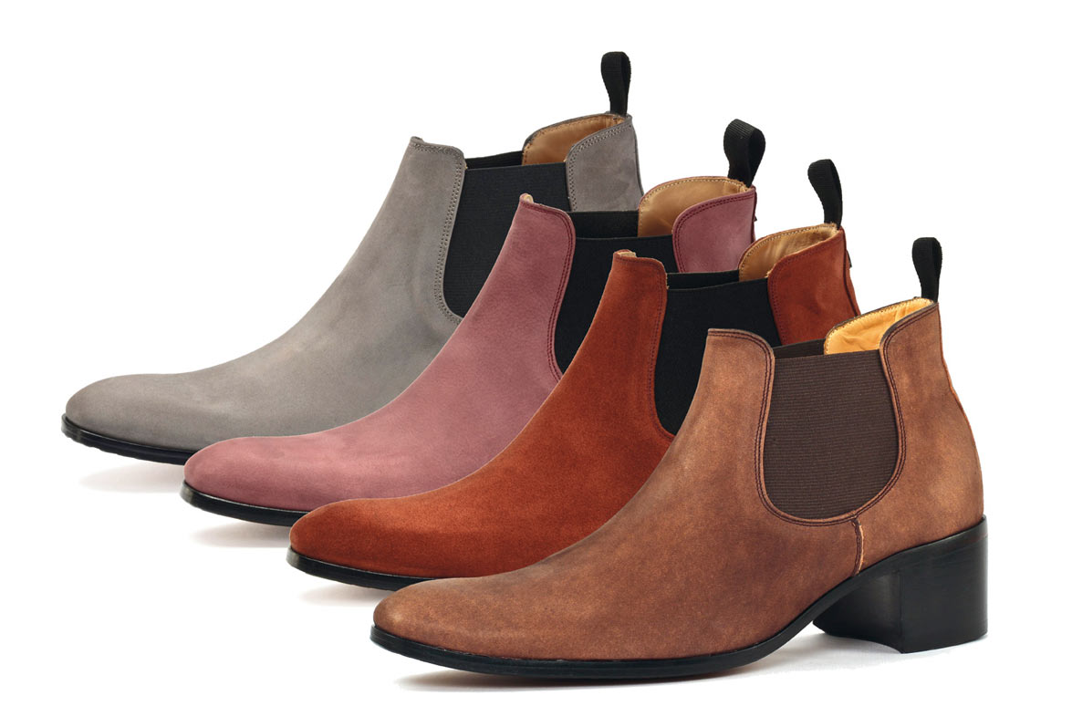 Boots with high heel for men | SORBONNE marron | jasper | light purple | grey