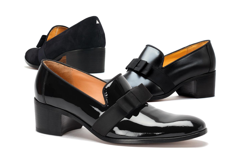 Shoes with high heel for men | VERSAILLES marine | noir | noir vernis